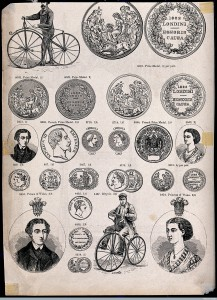 """A selection of French and British prize medals"" (Wellcome Images)"