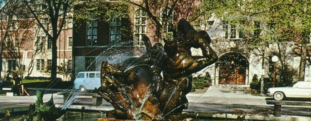 The Carl Milles Fountain and the University of Michigan League